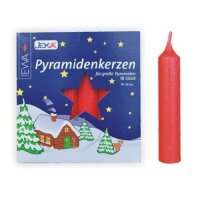 Pyramid candles red - diameter 17 mm (0,7 inch)