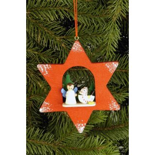 Christian Ulbricht tree decoration star with angel