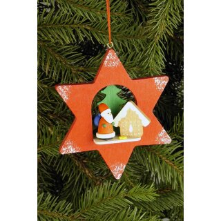 Christian Ulbricht tree decoration star with Santa Claus