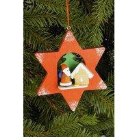 Christian Ulbricht tree decoration star with Santa Claus