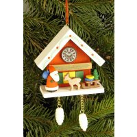 Christian Ulbricht tree decoration cuckoo clock red with...